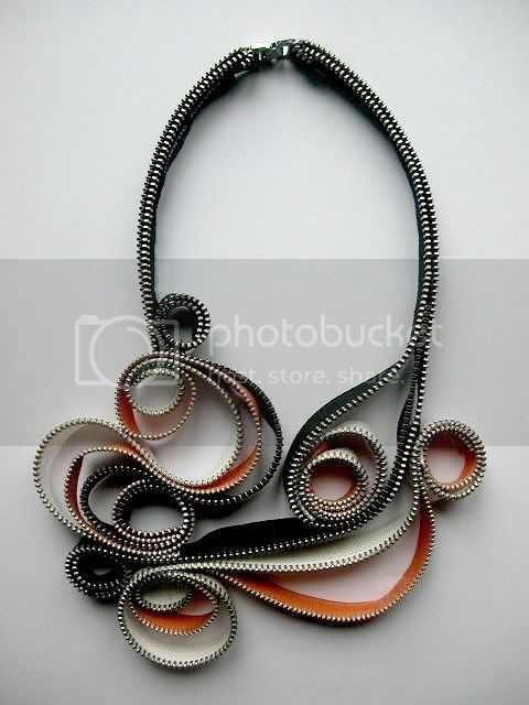 Intense Whirl Zipper Necklace