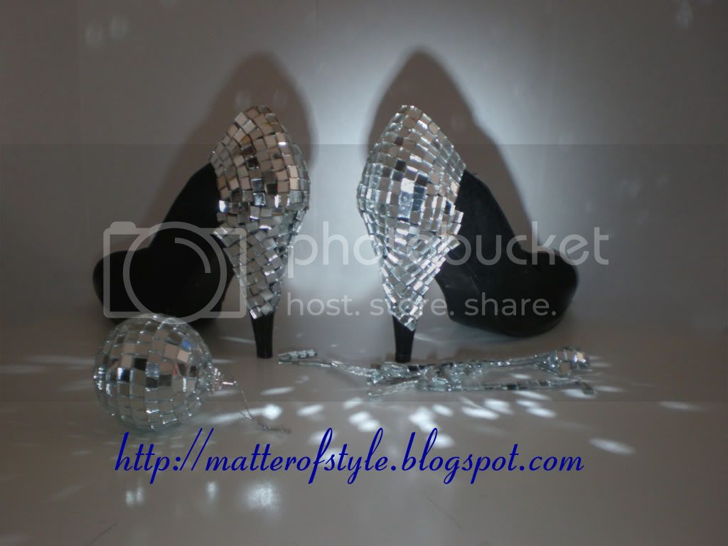mirror shoes,diy shoes,shoes diy,disco shoes,diy,fashion diy, Discoball Heels