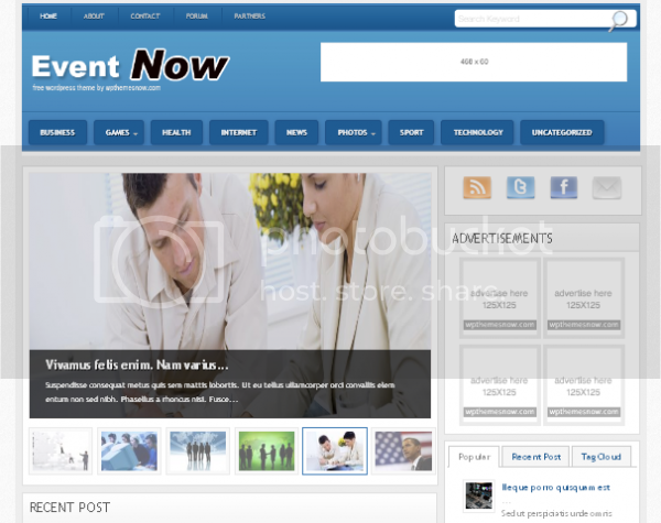 Wordpress Themes Event Wordpress theme